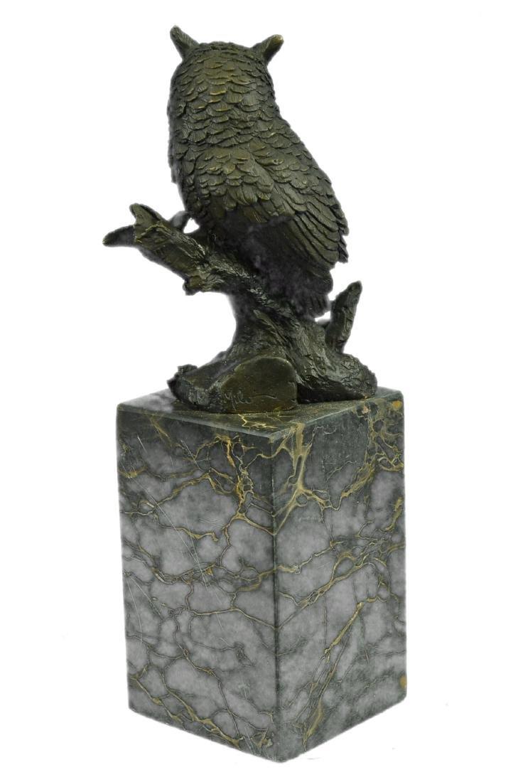 Vienna Bronze Bird Owl Book End Bookend Bronze - 8