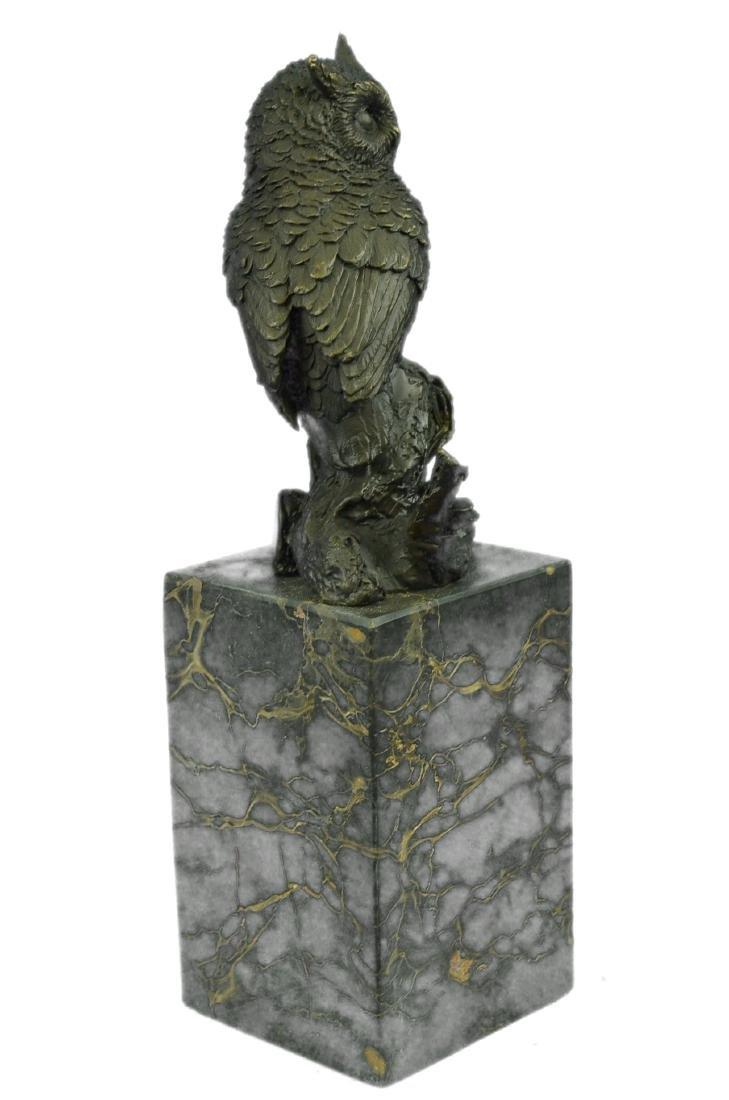 Vienna Bronze Bird Owl Book End Bookend Bronze - 9