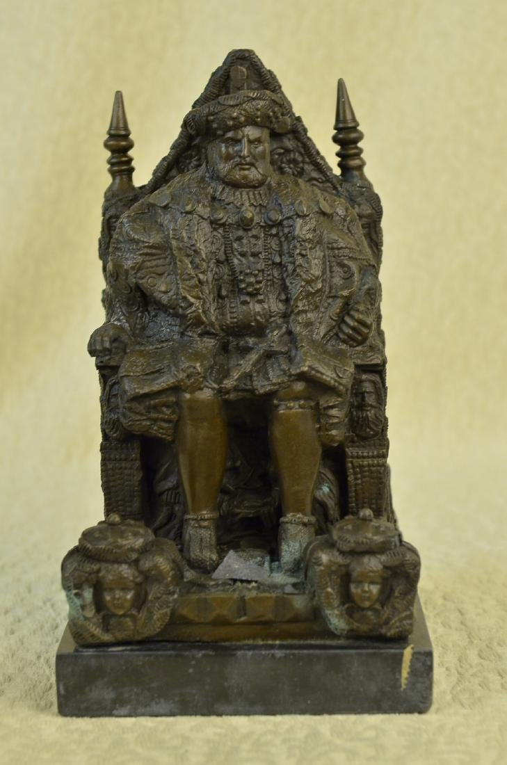 Russian King upon a Throne Bronze Sculpture