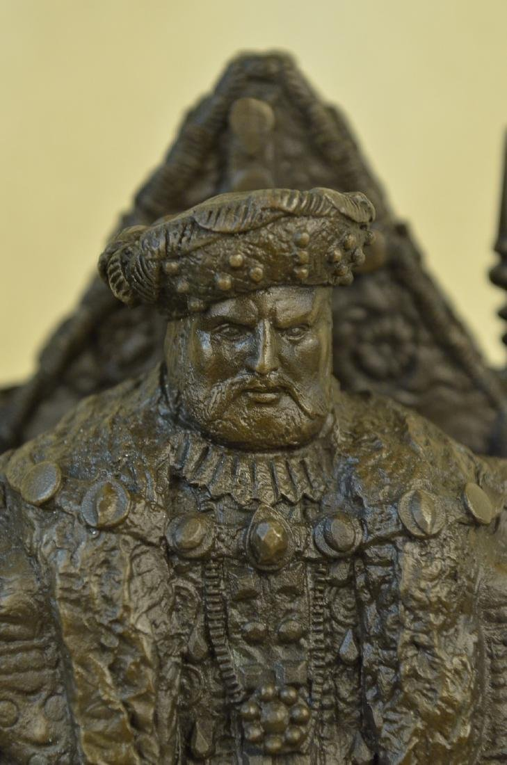 Russian King upon a Throne Bronze Sculpture - 2