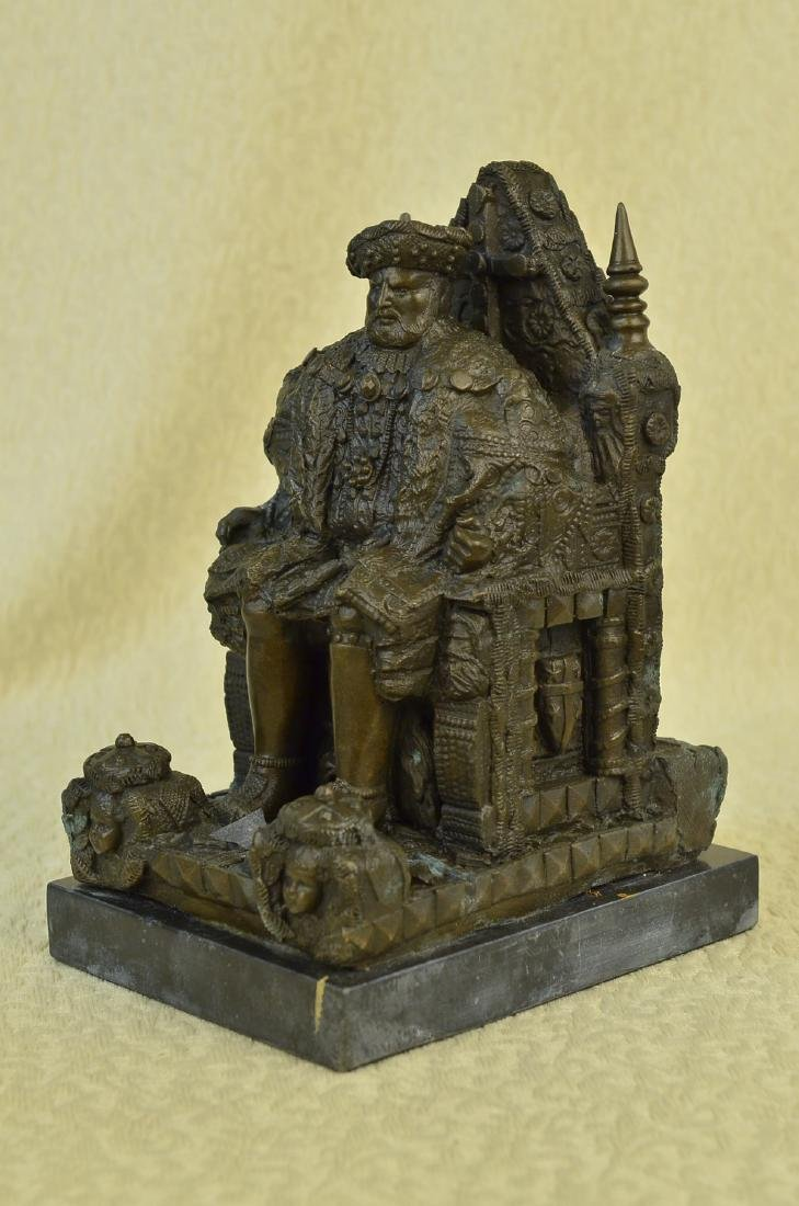 Russian King upon a Throne Bronze Sculpture - 5