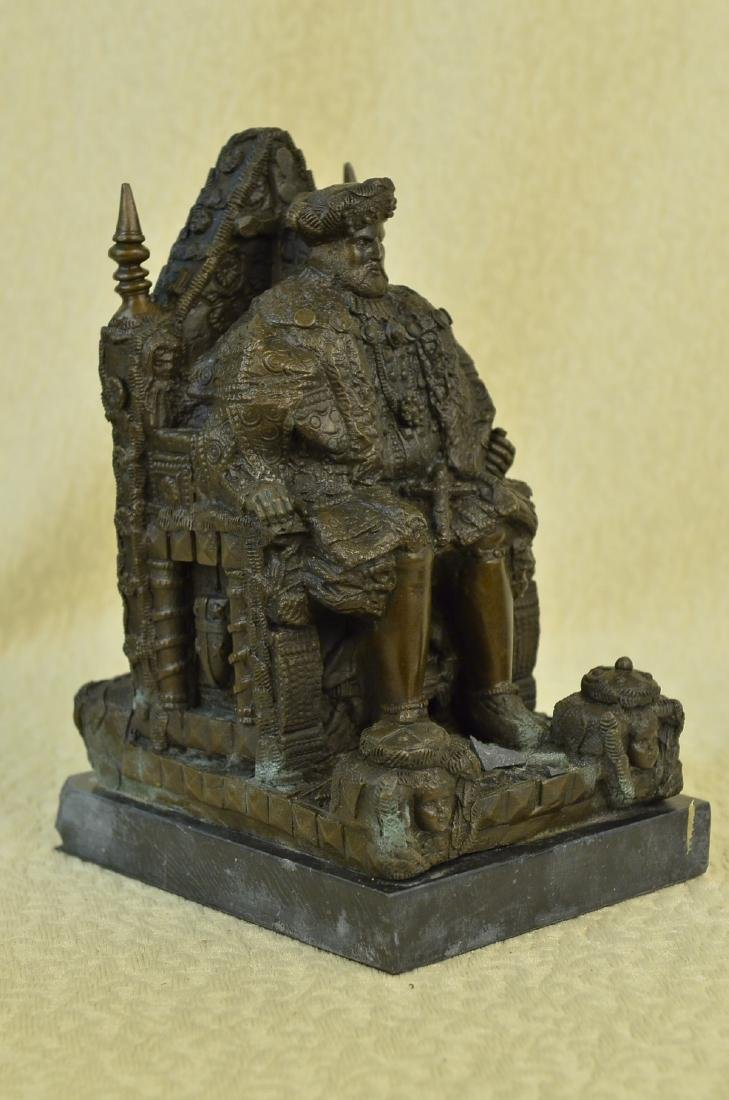 Russian King upon a Throne Bronze Sculpture - 8