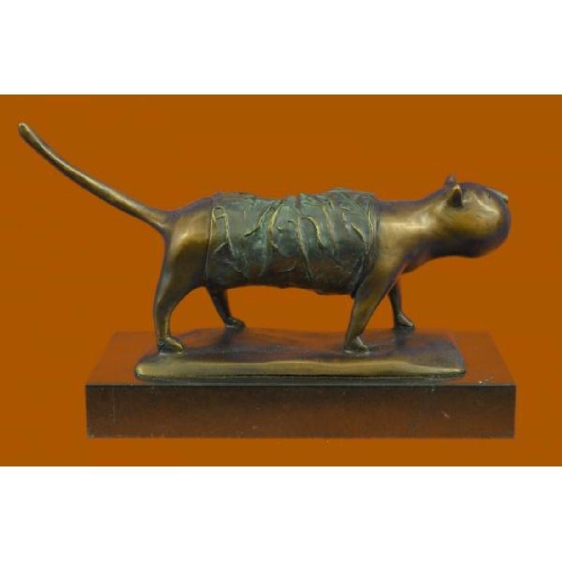 Fernando Botero Fat Cat Bronze Abstract Modern Art