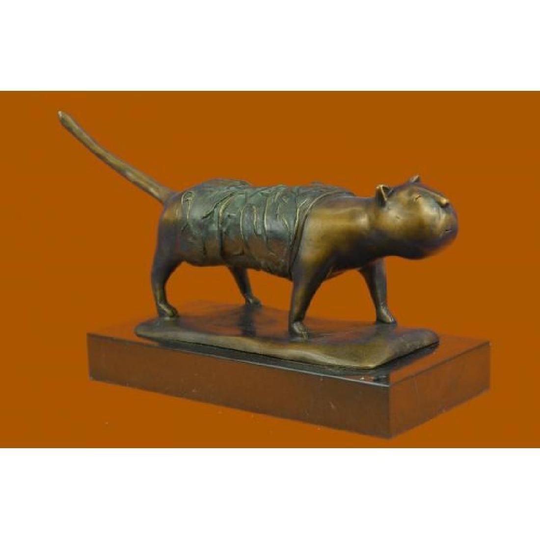 Fernando Botero Fat Cat Bronze Abstract Modern Art - 2