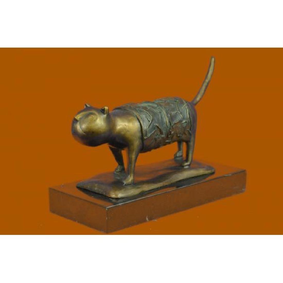 Fernando Botero Fat Cat Bronze Abstract Modern Art - 3