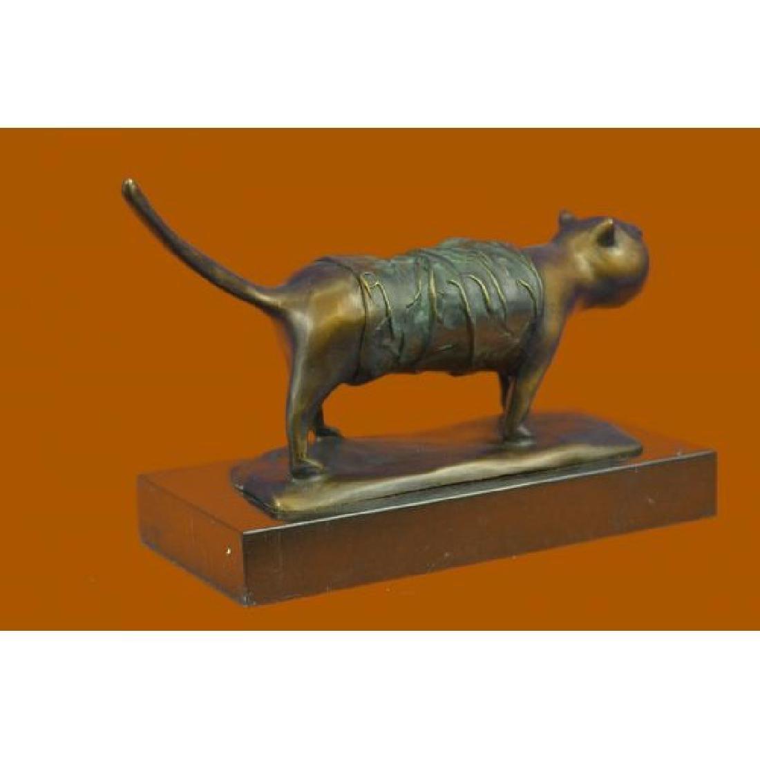 Fernando Botero Fat Cat Bronze Abstract Modern Art - 4
