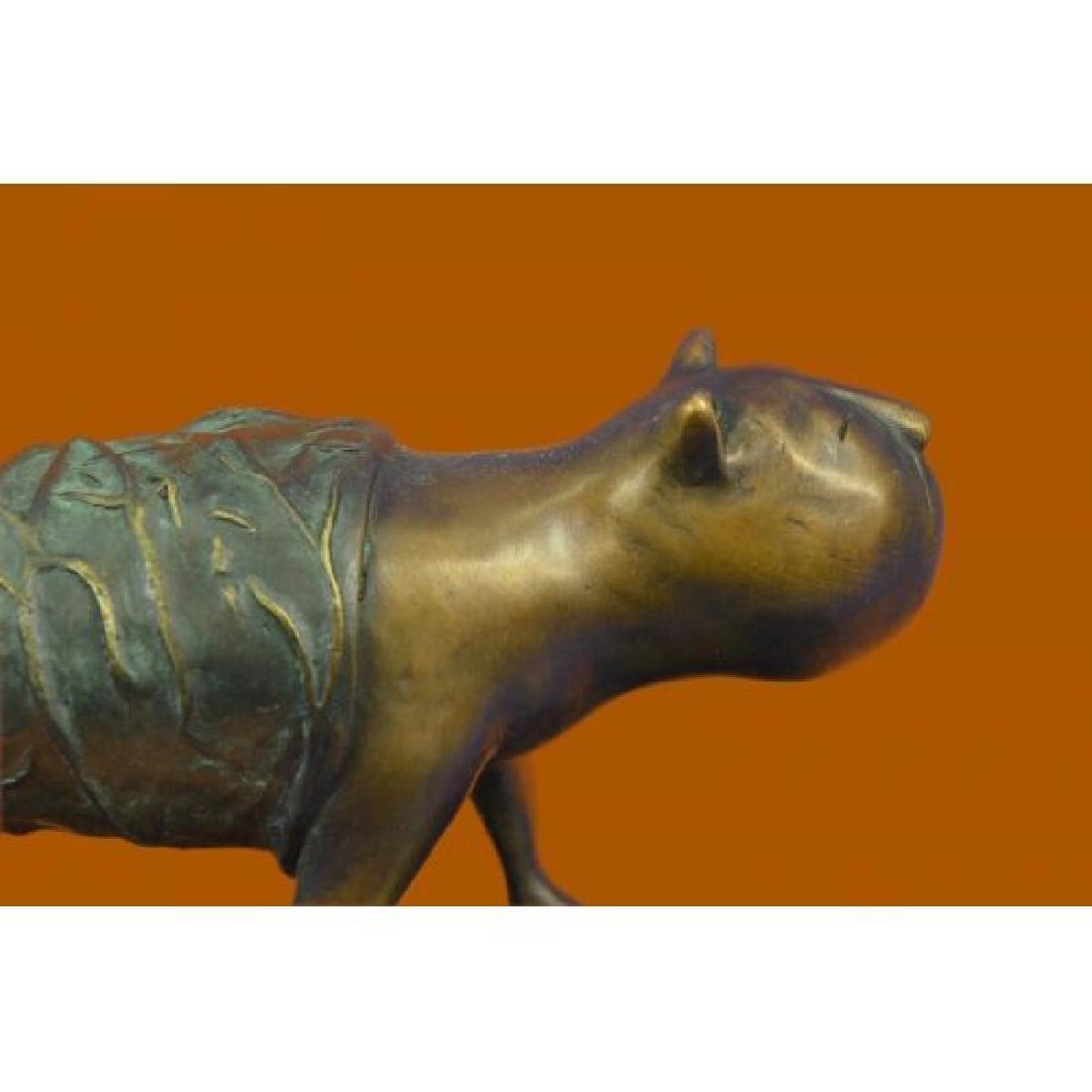 Fernando Botero Fat Cat Bronze Abstract Modern Art - 5