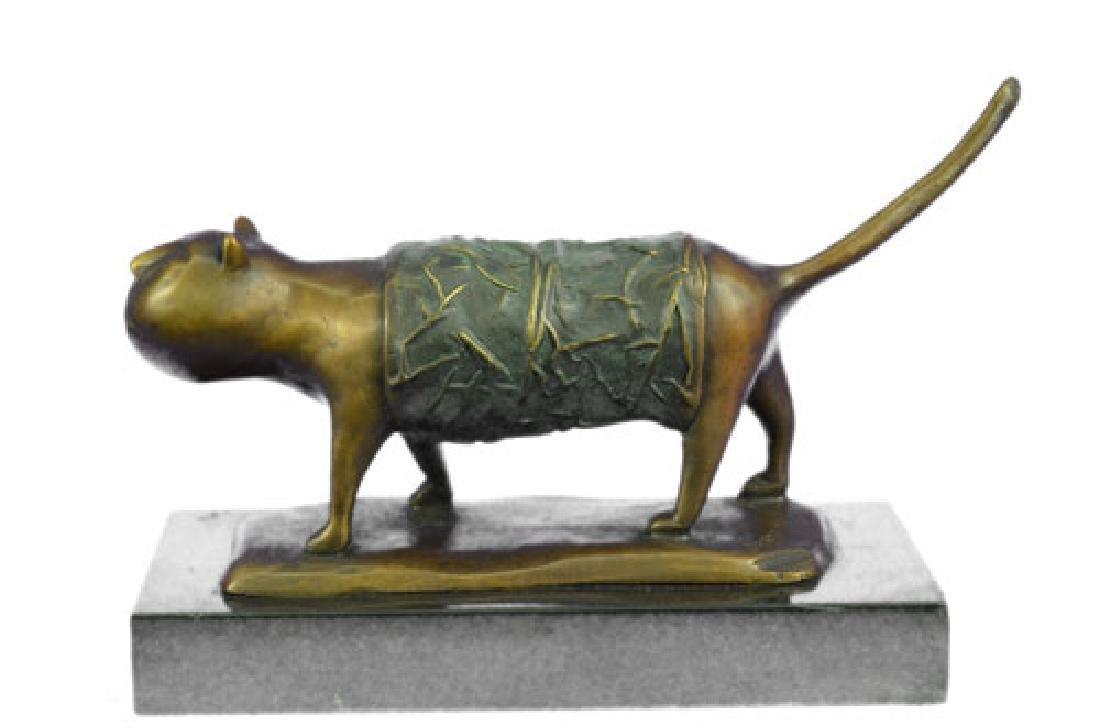 Fernando Botero Fat Cat Bronze Abstract Modern Art - 7