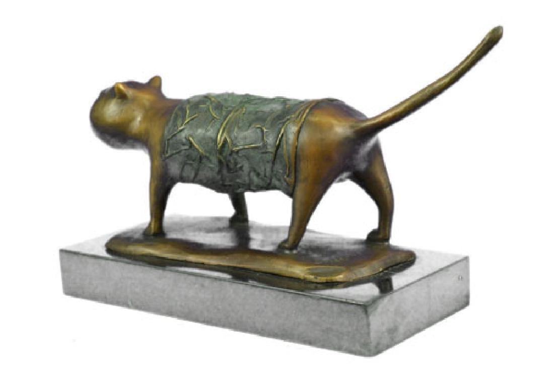 Fernando Botero Fat Cat Bronze Abstract Modern Art - 8
