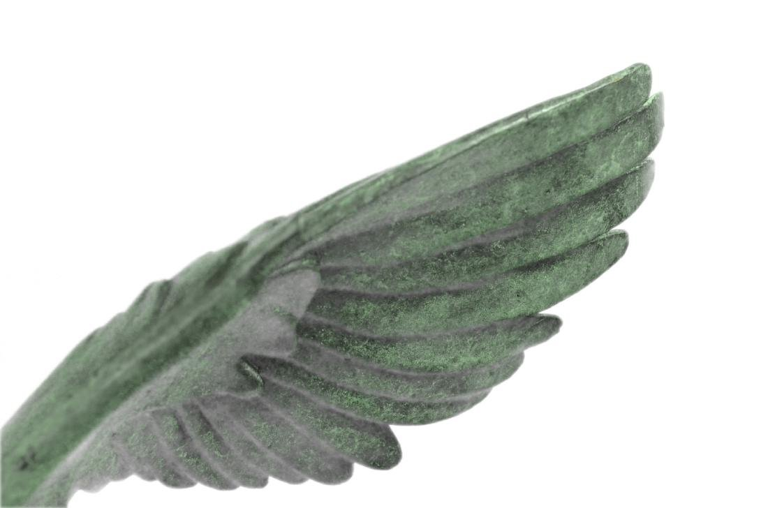 American Eagle Green Patina with Spread Wings Bronze - 3