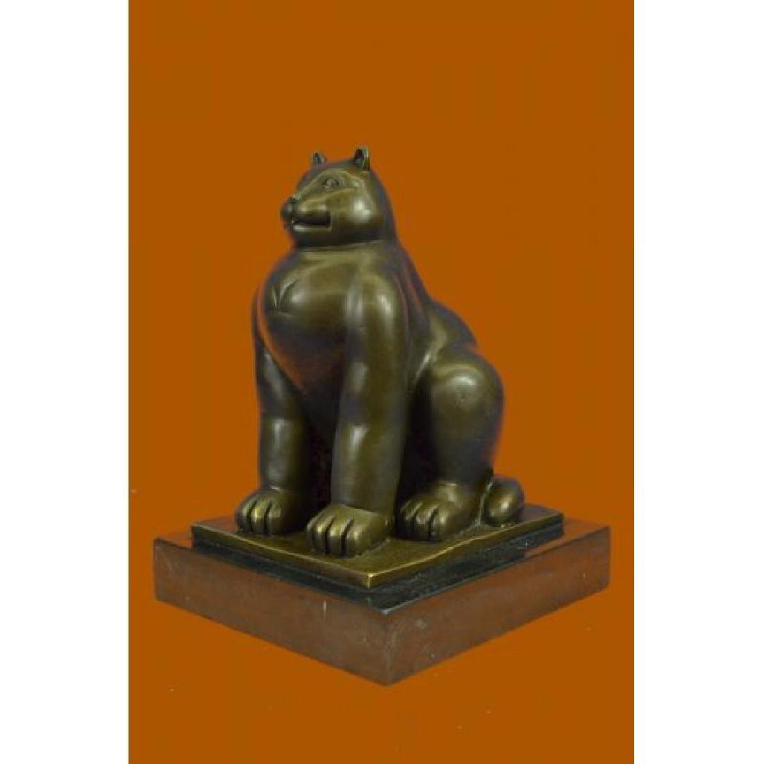 Modern Art Fat Cat by Spanish Artist Botero Bronze - 2