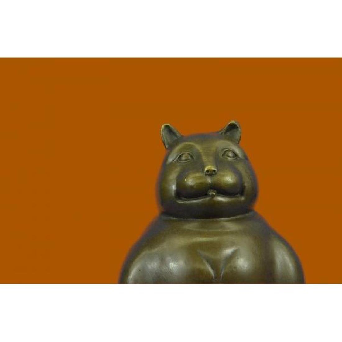 Modern Art Fat Cat by Spanish Artist Botero Bronze - 5