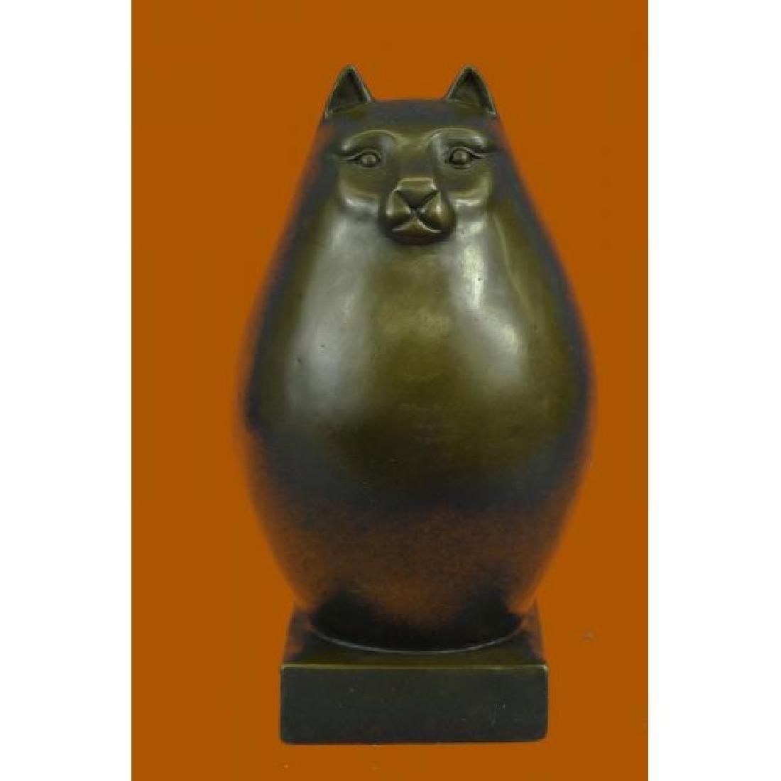 Modern Art Bronze- Fat Cat, Signed Milo a tribute to