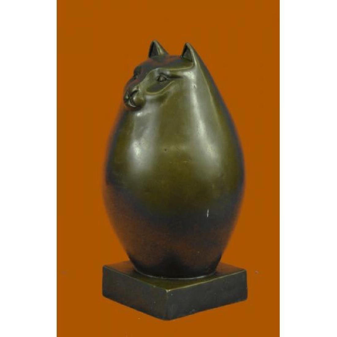 Modern Art Bronze- Fat Cat, Signed Milo a tribute to - 2