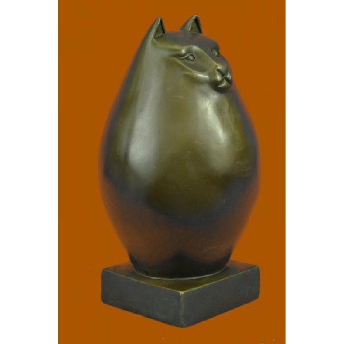 Modern Art Bronze- Fat Cat, Signed Milo a tribute to - 4