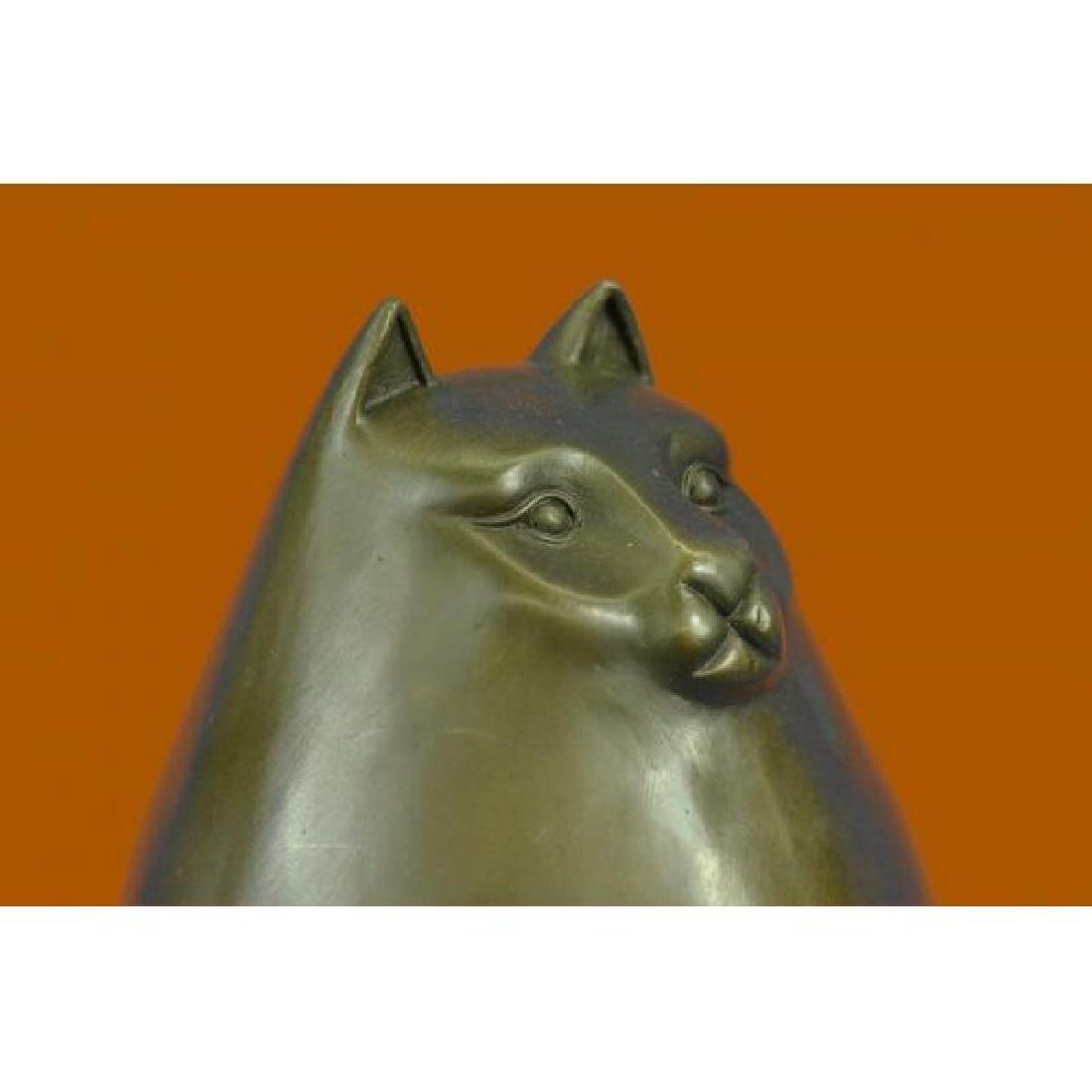 Modern Art Bronze- Fat Cat, Signed Milo a tribute to - 5