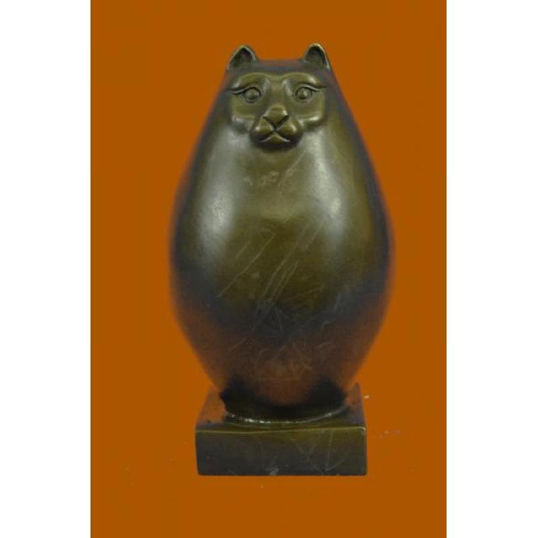 Handcrafted Detailed Hot Cast Cat by Botero Bronze