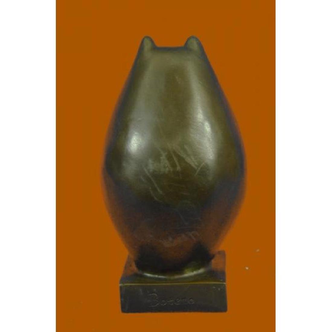Handcrafted Detailed Hot Cast Cat by Botero Bronze - 3