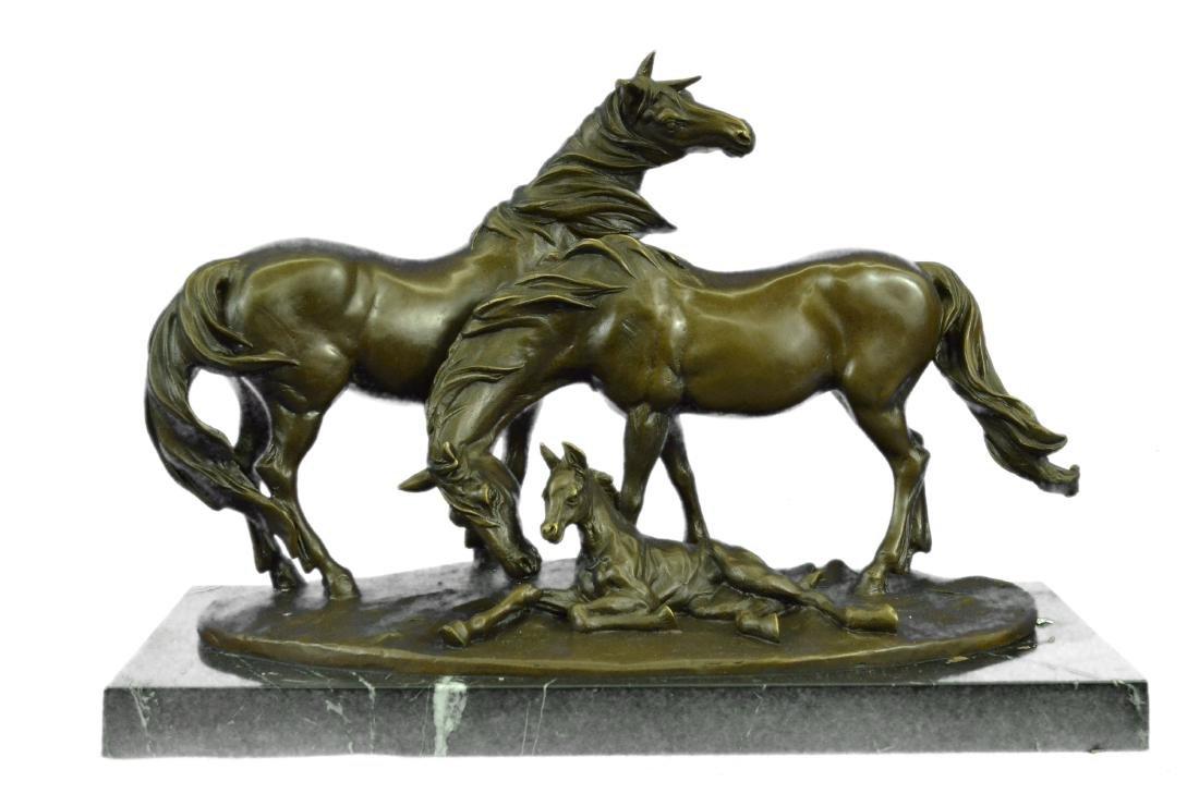 HORSES HARMONY STALLION BRONZE SCULPTURE STATUE HOT