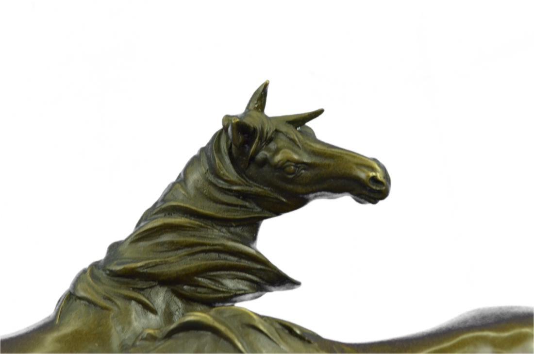 HORSES HARMONY STALLION BRONZE SCULPTURE STATUE HOT - 2
