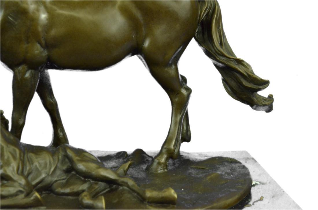 HORSES HARMONY STALLION BRONZE SCULPTURE STATUE HOT - 3