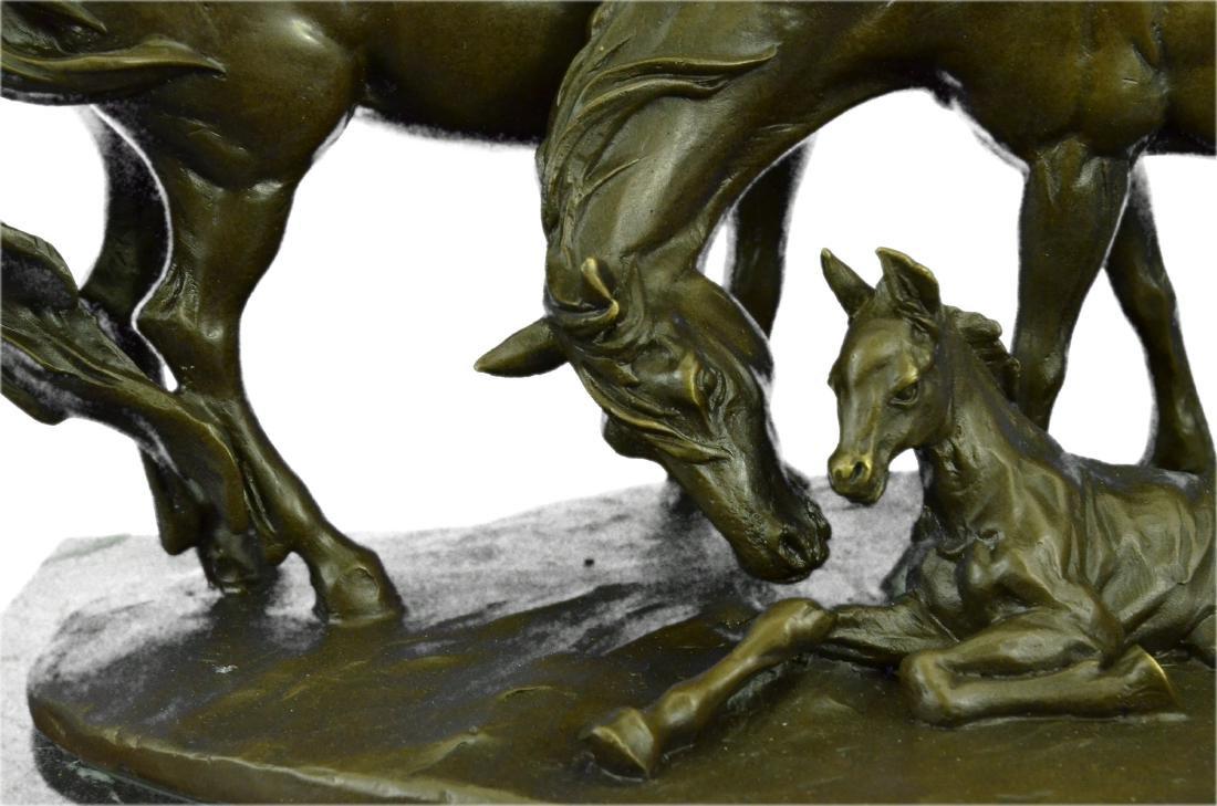 HORSES HARMONY STALLION BRONZE SCULPTURE STATUE HOT - 5