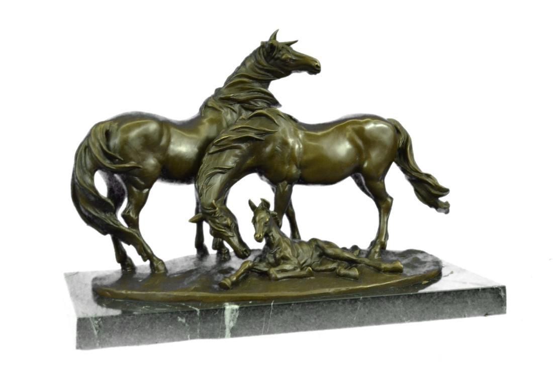 HORSES HARMONY STALLION BRONZE SCULPTURE STATUE HOT - 7
