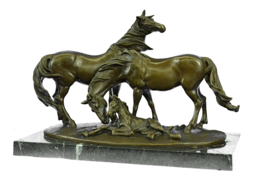 HORSES HARMONY STALLION BRONZE SCULPTURE STATUE HOT - 8