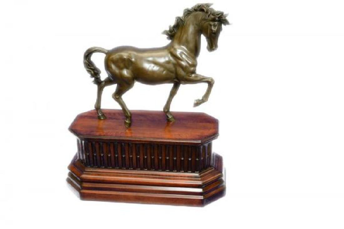 Majestic Stallion Arabian Horse Bronze Sculpture