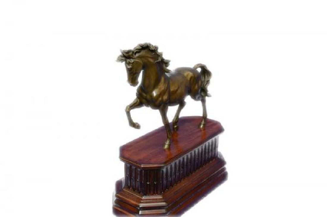 Majestic Stallion Arabian Horse Bronze Sculpture - 2