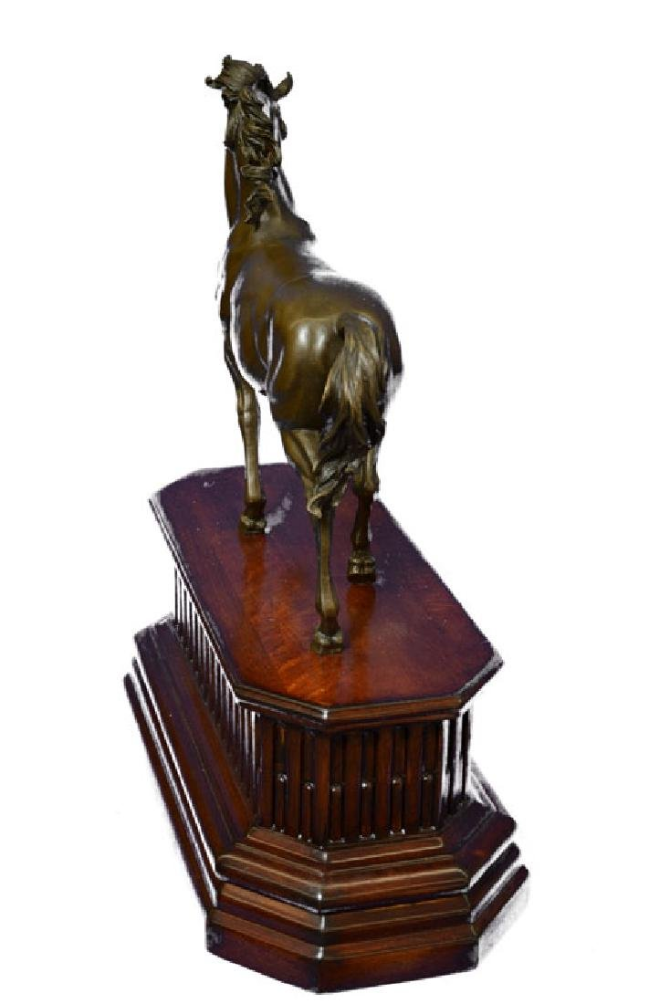 Majestic Stallion Arabian Horse Bronze Sculpture - 6