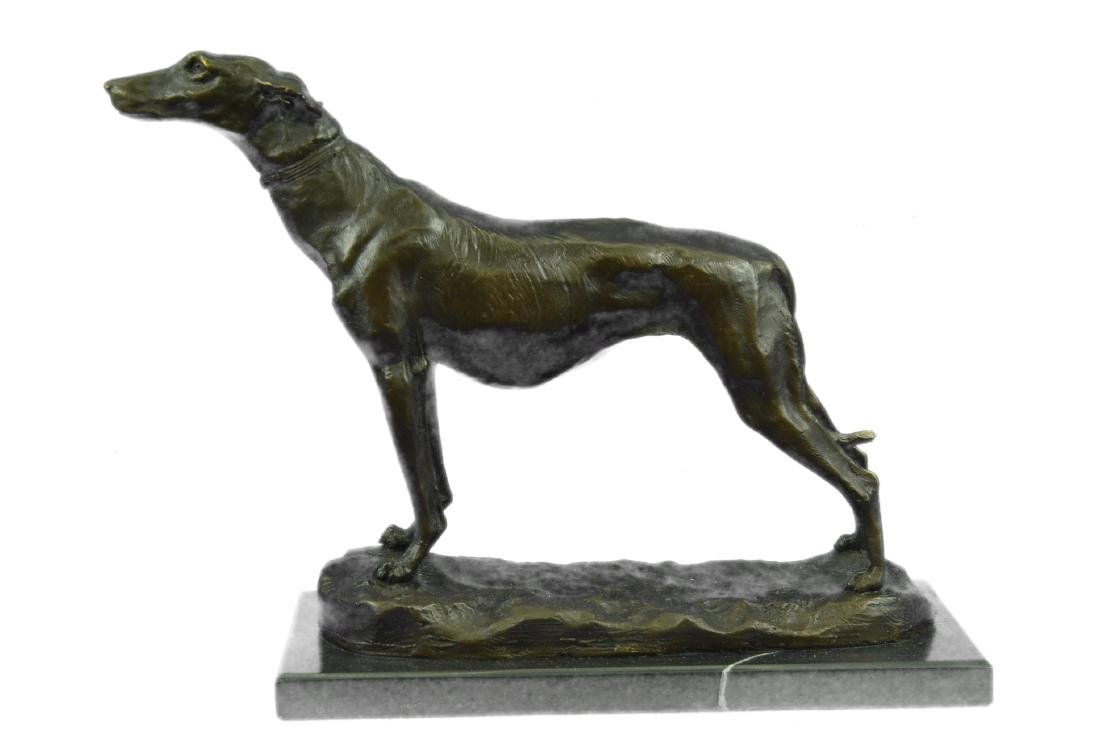 FREMIET GREYHOUNDS RACING DOG BRONZE SCULPTURE