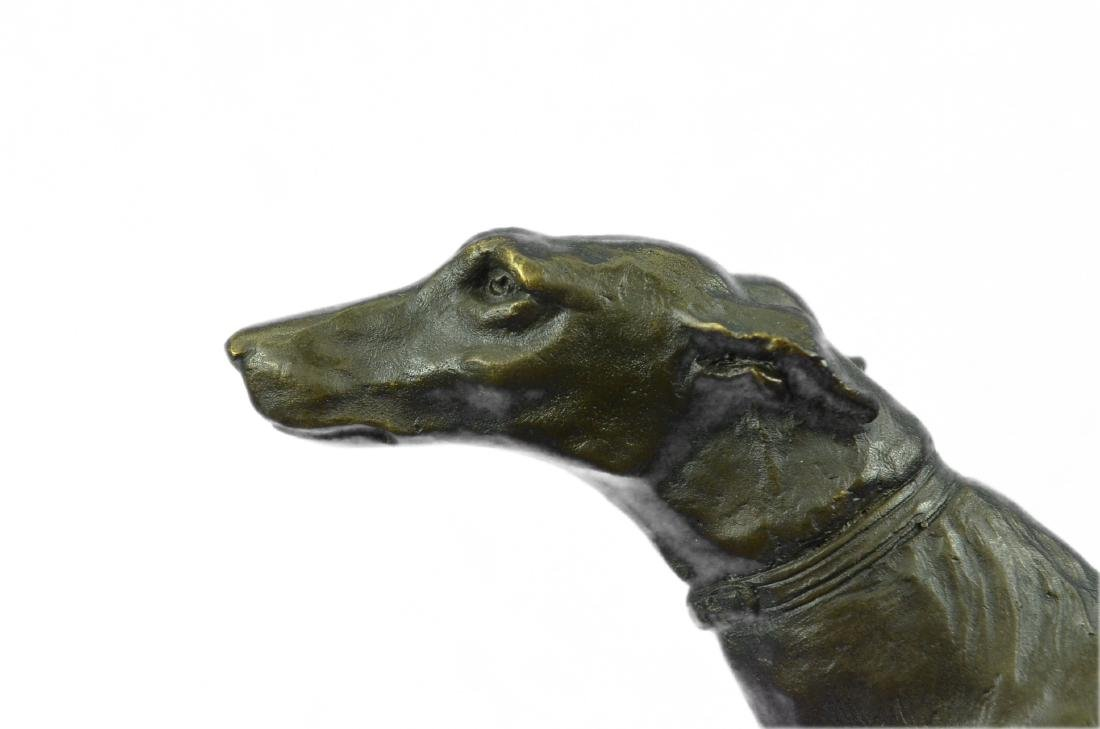 FREMIET GREYHOUNDS RACING DOG BRONZE SCULPTURE - 2