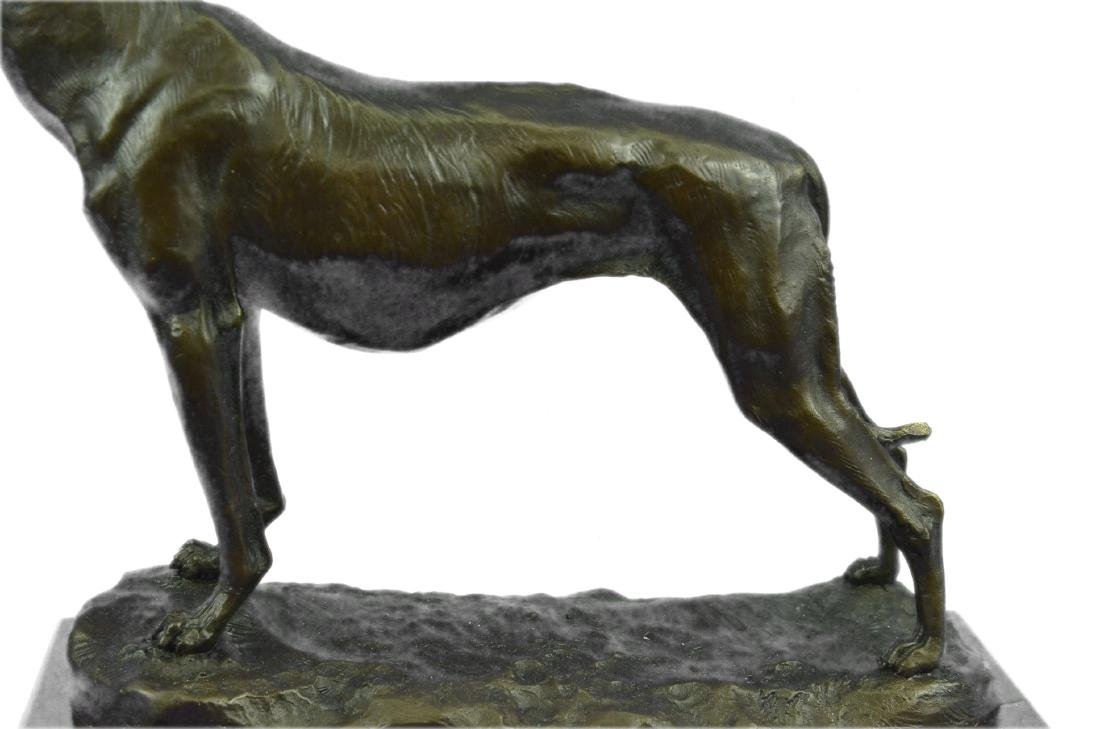 FREMIET GREYHOUNDS RACING DOG BRONZE SCULPTURE - 3