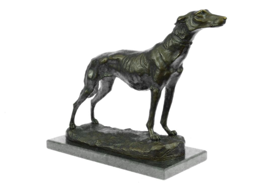 FREMIET GREYHOUNDS RACING DOG BRONZE SCULPTURE - 6