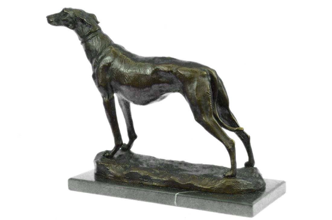 FREMIET GREYHOUNDS RACING DOG BRONZE SCULPTURE - 9