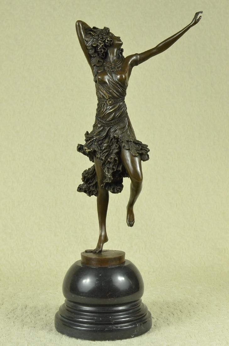 Stunning Art Deco Solid Bronze Dancer after Colinet