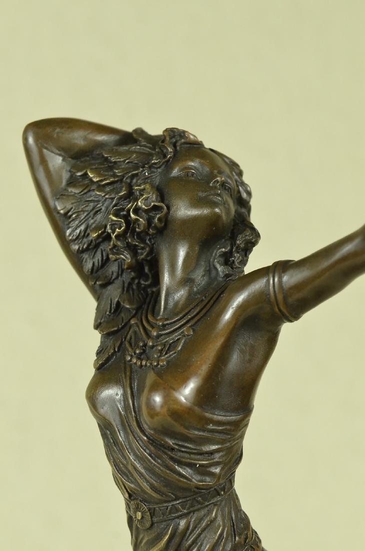 Stunning Art Deco Solid Bronze Dancer after Colinet - 2