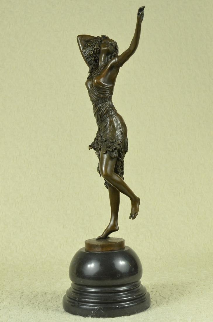 Stunning Art Deco Solid Bronze Dancer after Colinet - 3