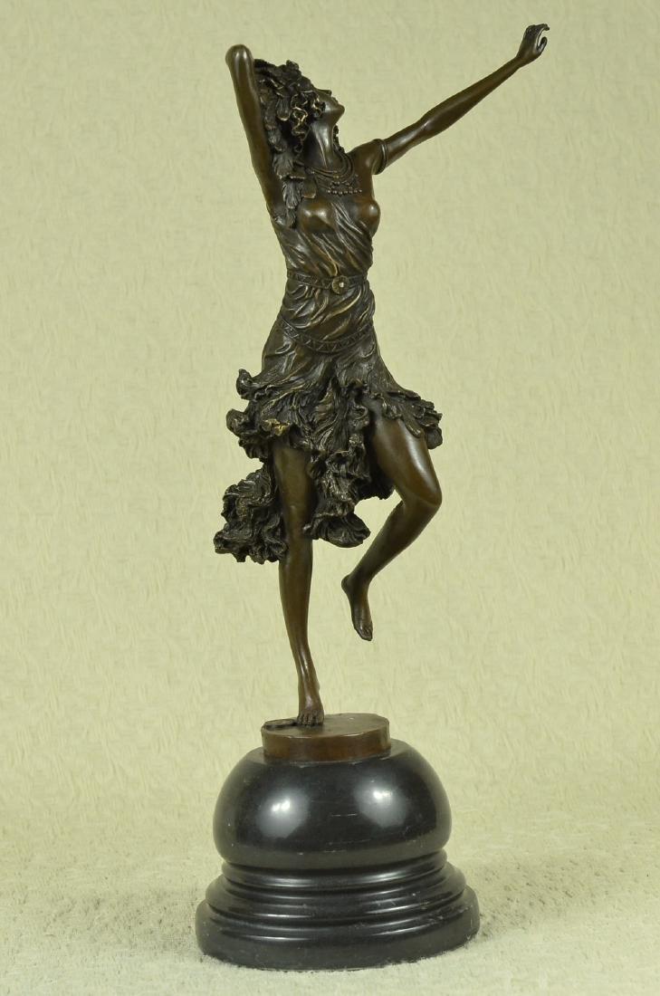 Stunning Art Deco Solid Bronze Dancer after Colinet - 6