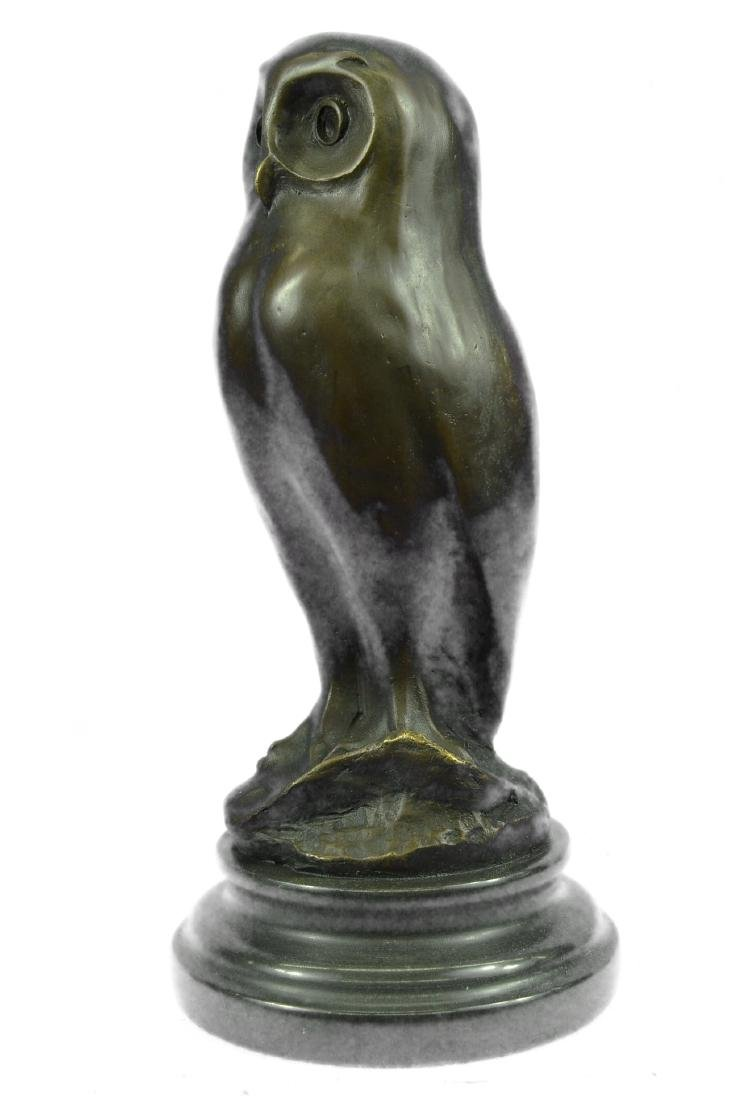 SIGNED BY MILO OWL BRONZE BIRD SCULPTURE - 5