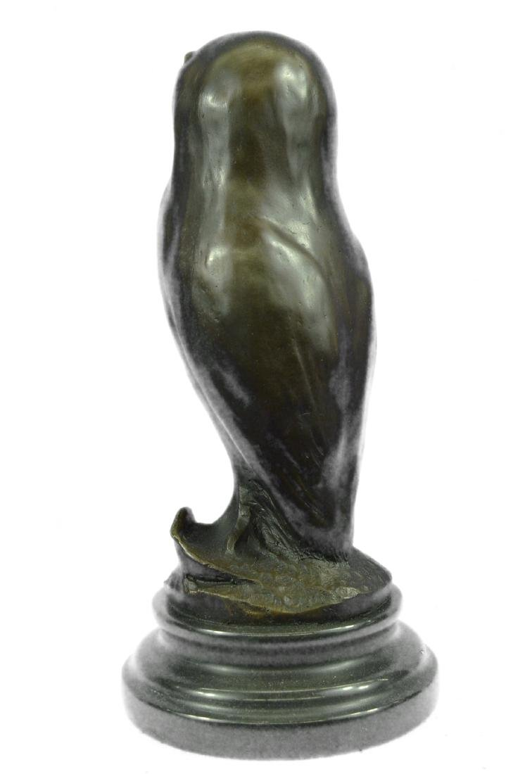 SIGNED BY MILO OWL BRONZE BIRD SCULPTURE - 6