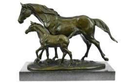 Detailed Bronze Horse Foal Figure