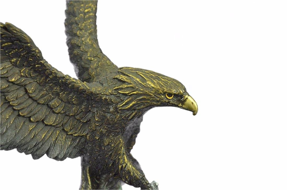 Swooping Eagle Catching Fish Wildlife Bronze Sculpture - 2