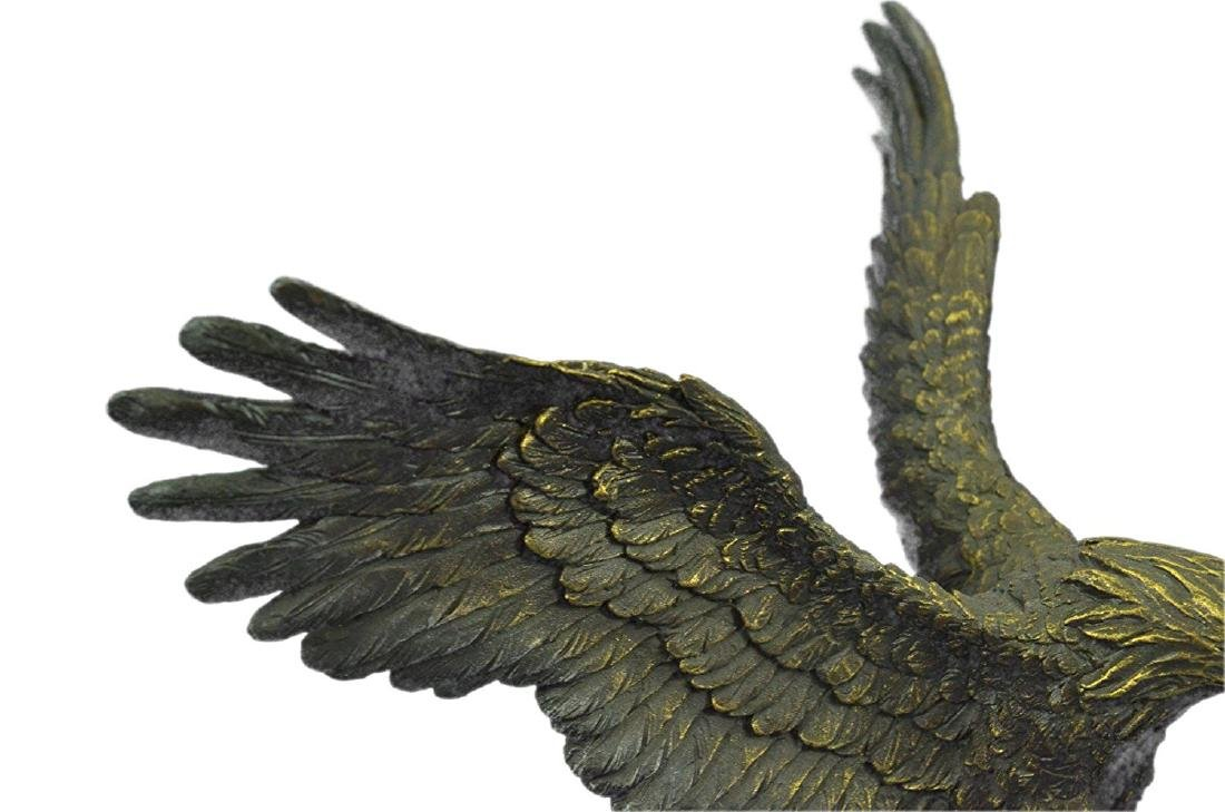 Swooping Eagle Catching Fish Wildlife Bronze Sculpture - 4