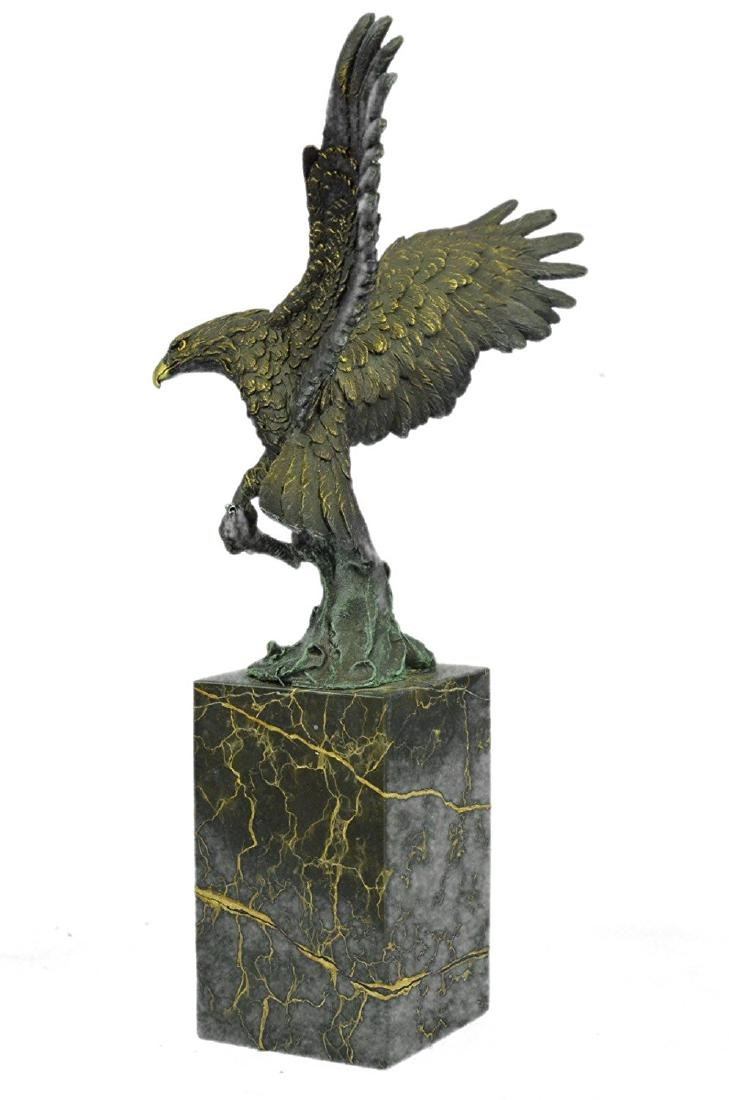 Swooping Eagle Catching Fish Wildlife Bronze Sculpture - 6