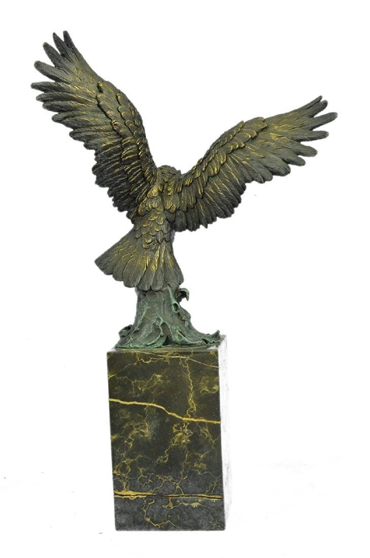 Swooping Eagle Catching Fish Wildlife Bronze Sculpture - 7