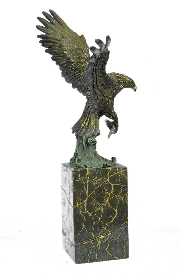 Swooping Eagle Catching Fish Wildlife Bronze Sculpture - 8