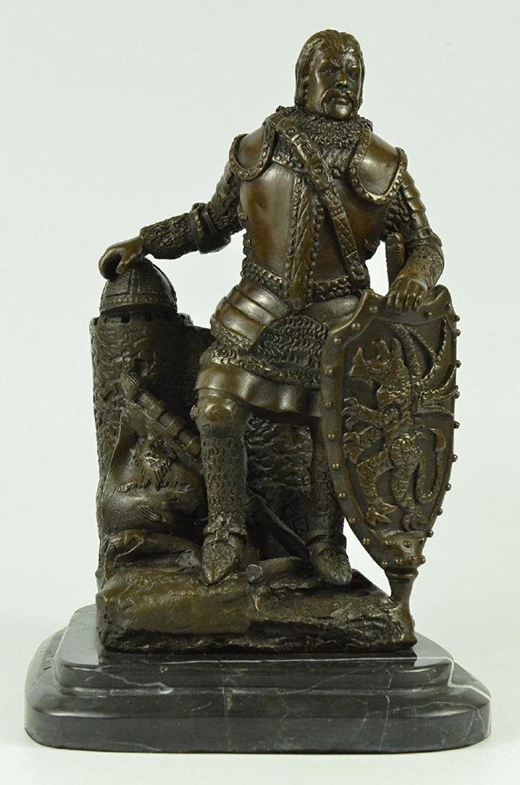 Armor Viking Warrior Bronze Sculpture