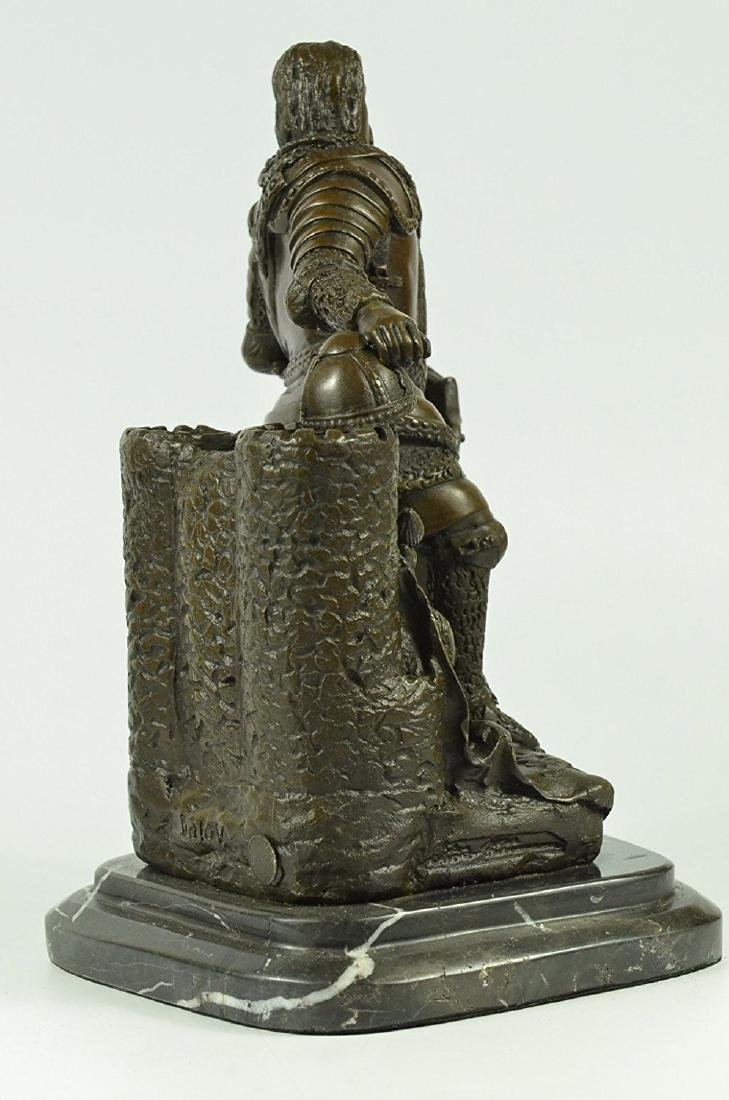 Armor Viking Warrior Bronze Sculpture - 5